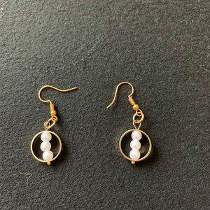 Handmade Gold Pearl Earrings